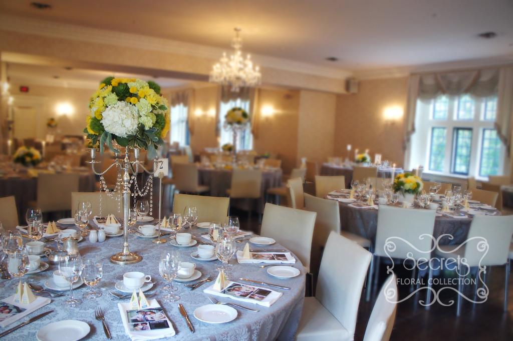 Modern Yellow Silver Wedding Decoration Toronto