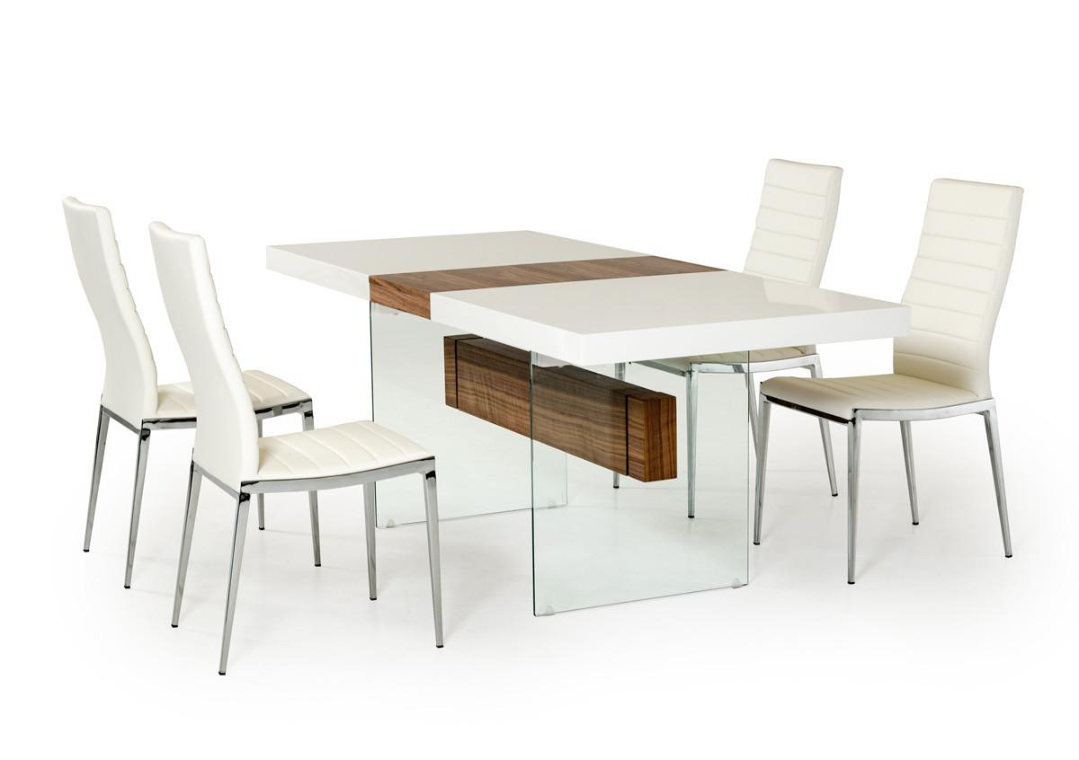 Modrest Sven Contemporary White Walnut Floating