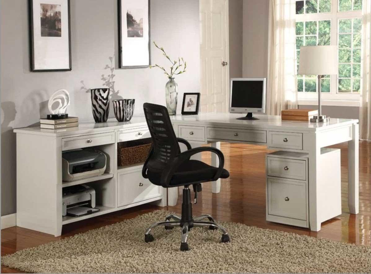 Modular Home Office Furniture Collections White Color