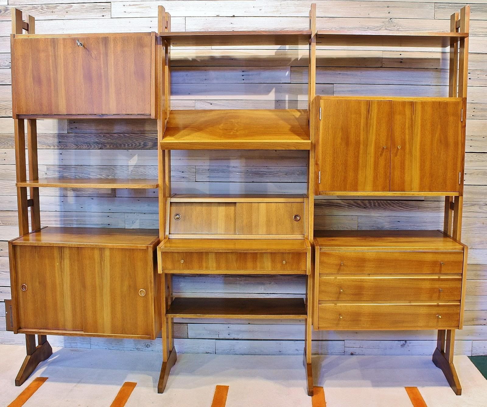 Modwerks Walnut Danish Modern Modular Wall Unit