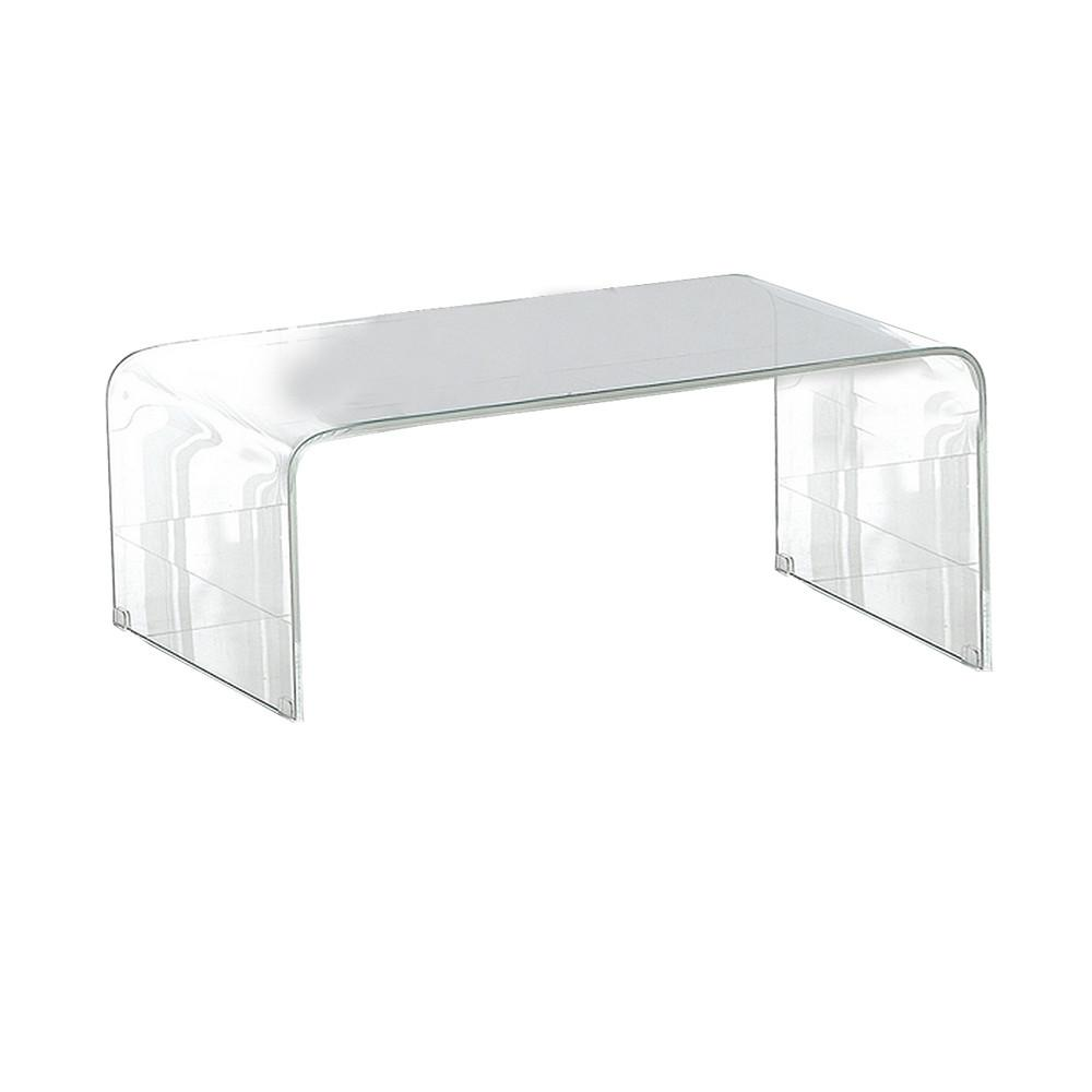 Moes Home Pura Clear Glass Coffee Table Beyond Stores