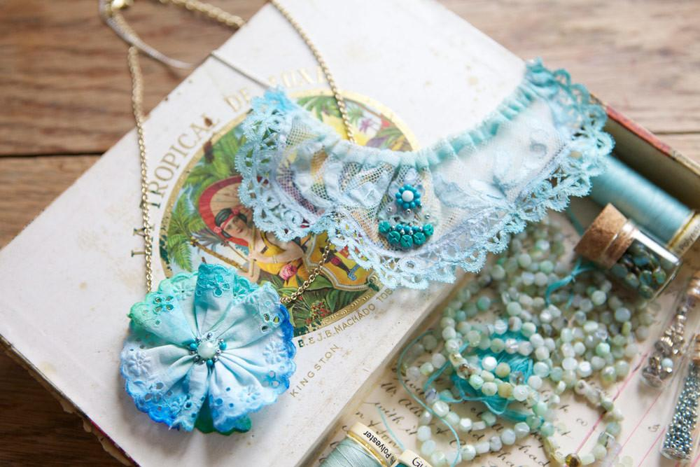 Mollie Makes Painted Lace Necklace Diy Lobster Swan