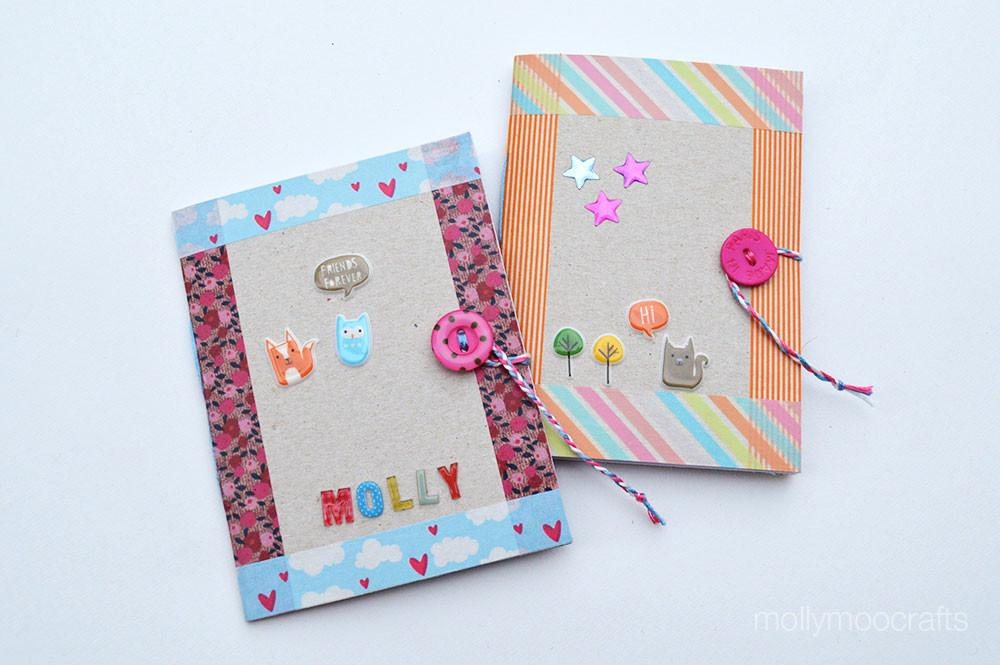 Mollymoocrafts Diy Cereal Box Notebook
