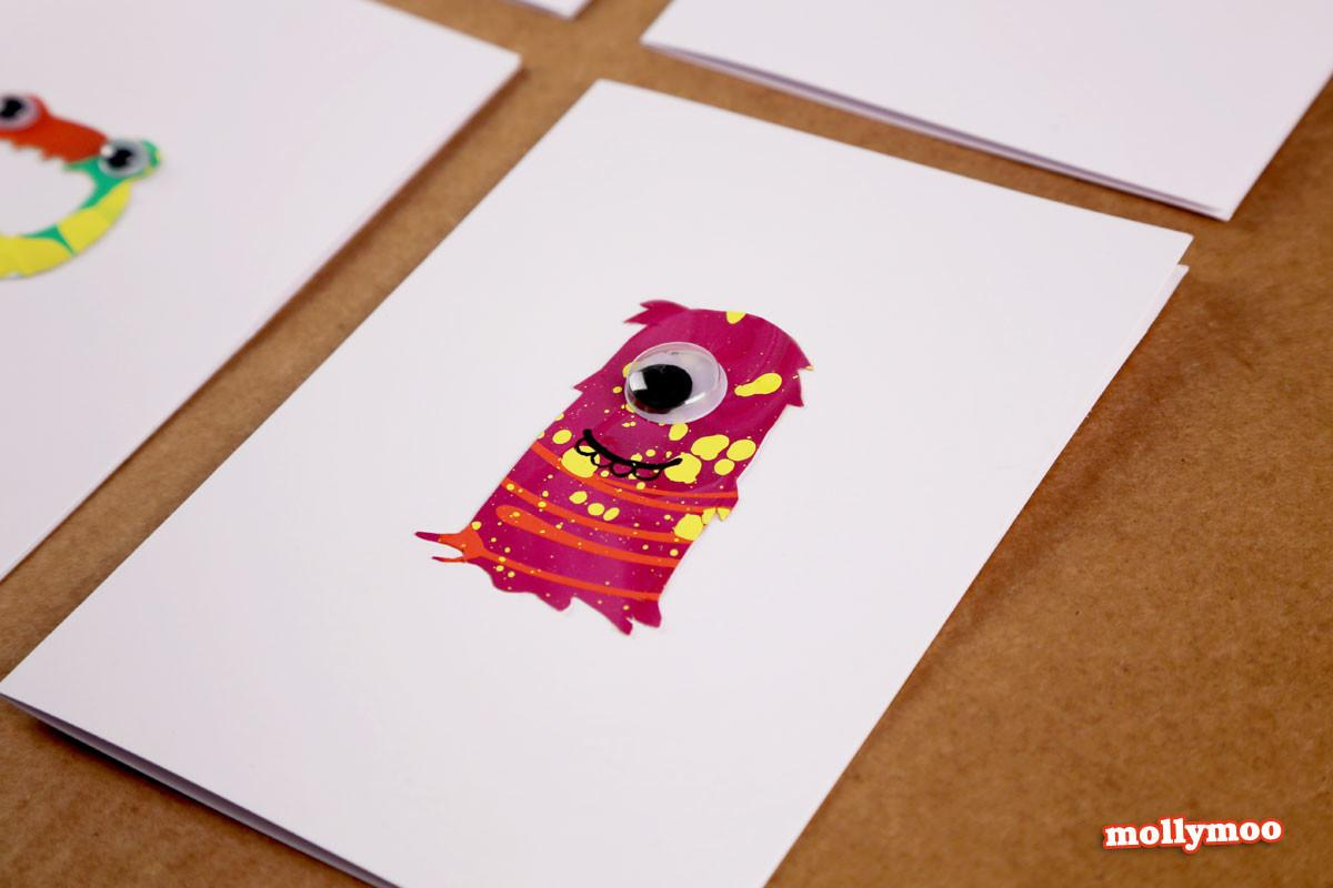 Mollymoocrafts Diy Monster Cards Stencils