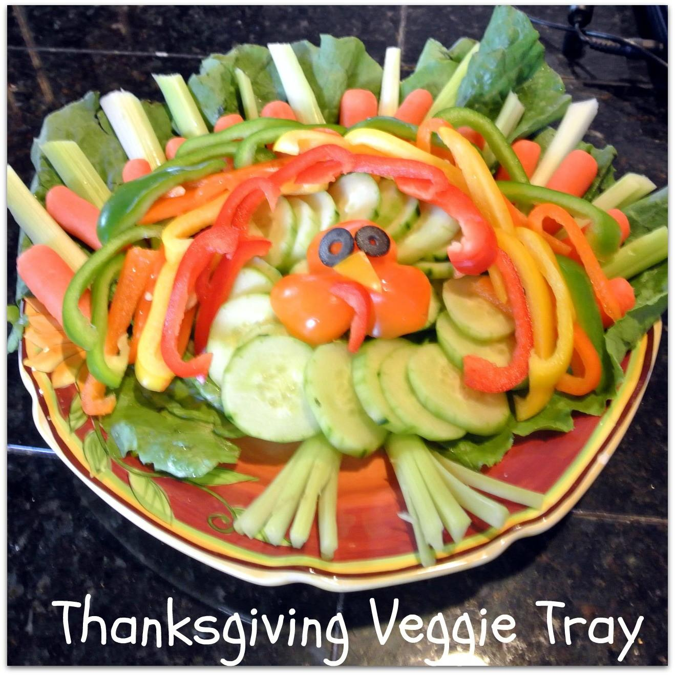 Mom Dinner Cute Thanksgiving Veggie Platter