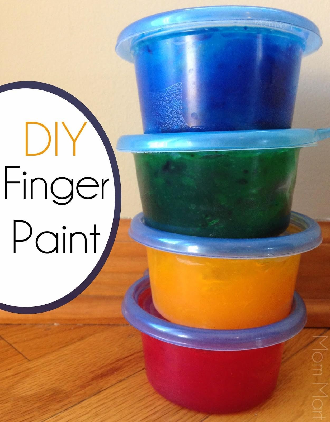 Mom Mart Diy Finger Paint Recipe Craftsforkids