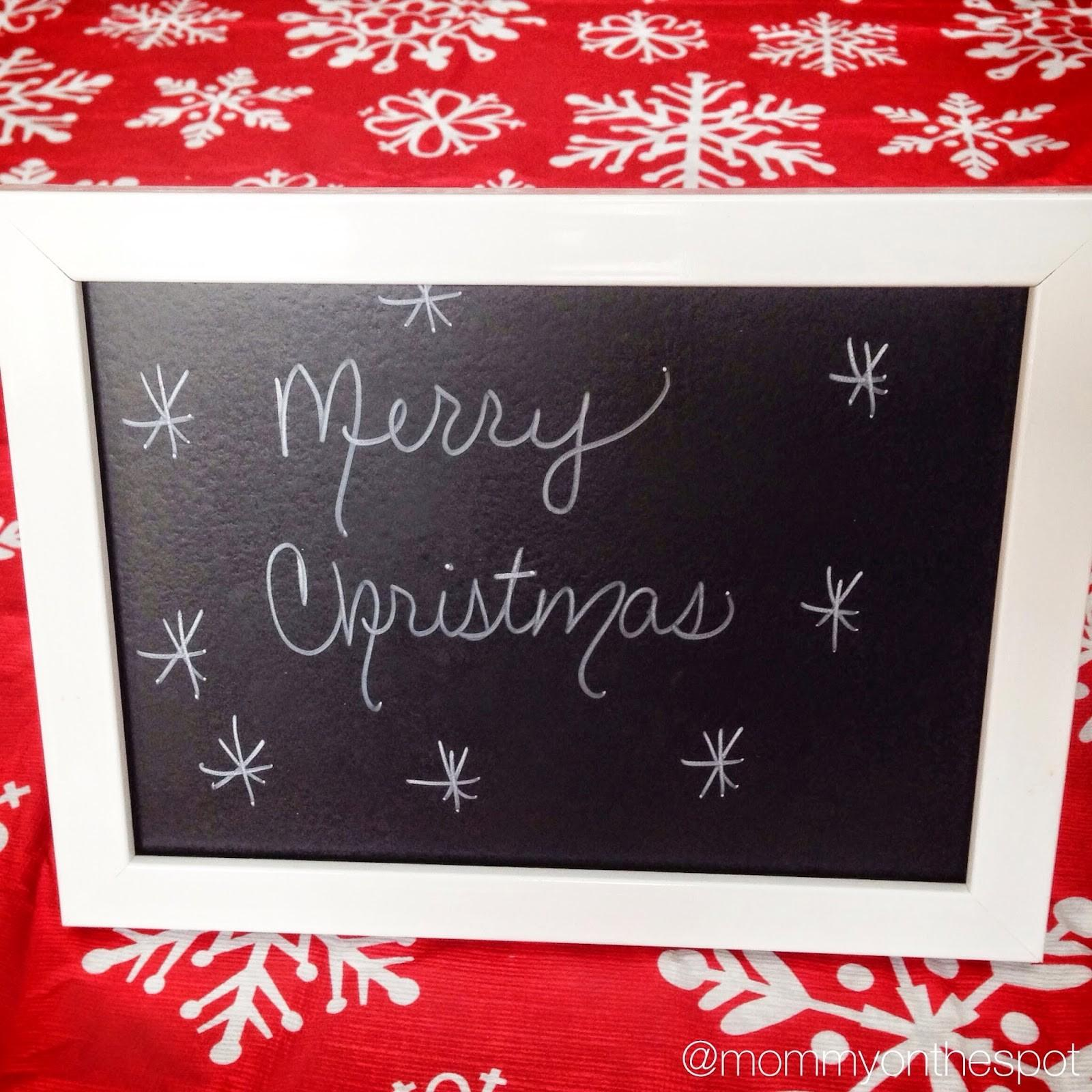 Mommy Spot Christmas Diy Gifts Chalkboard Paint