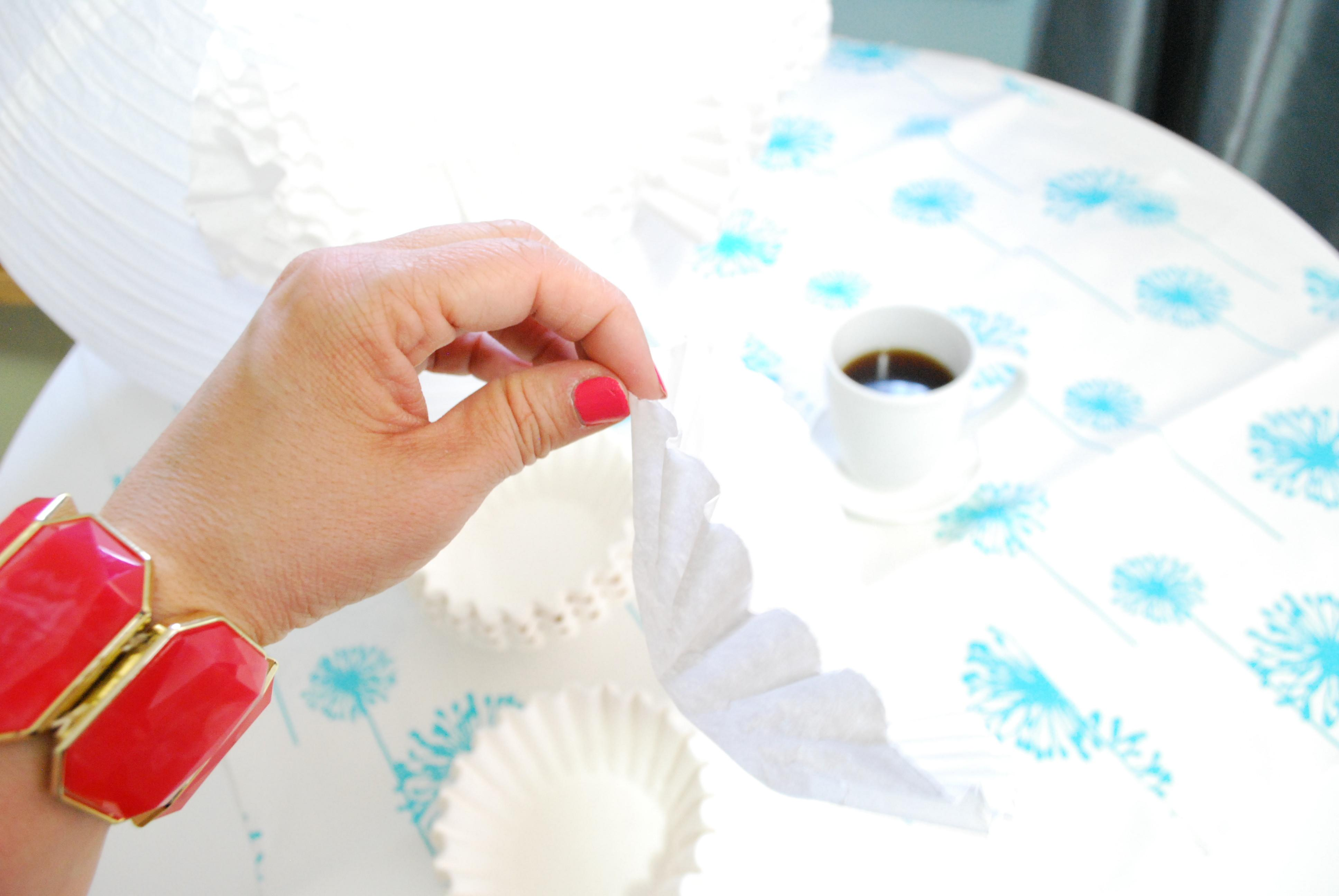 Monday Diy Decorating Pendant Coffee Filters