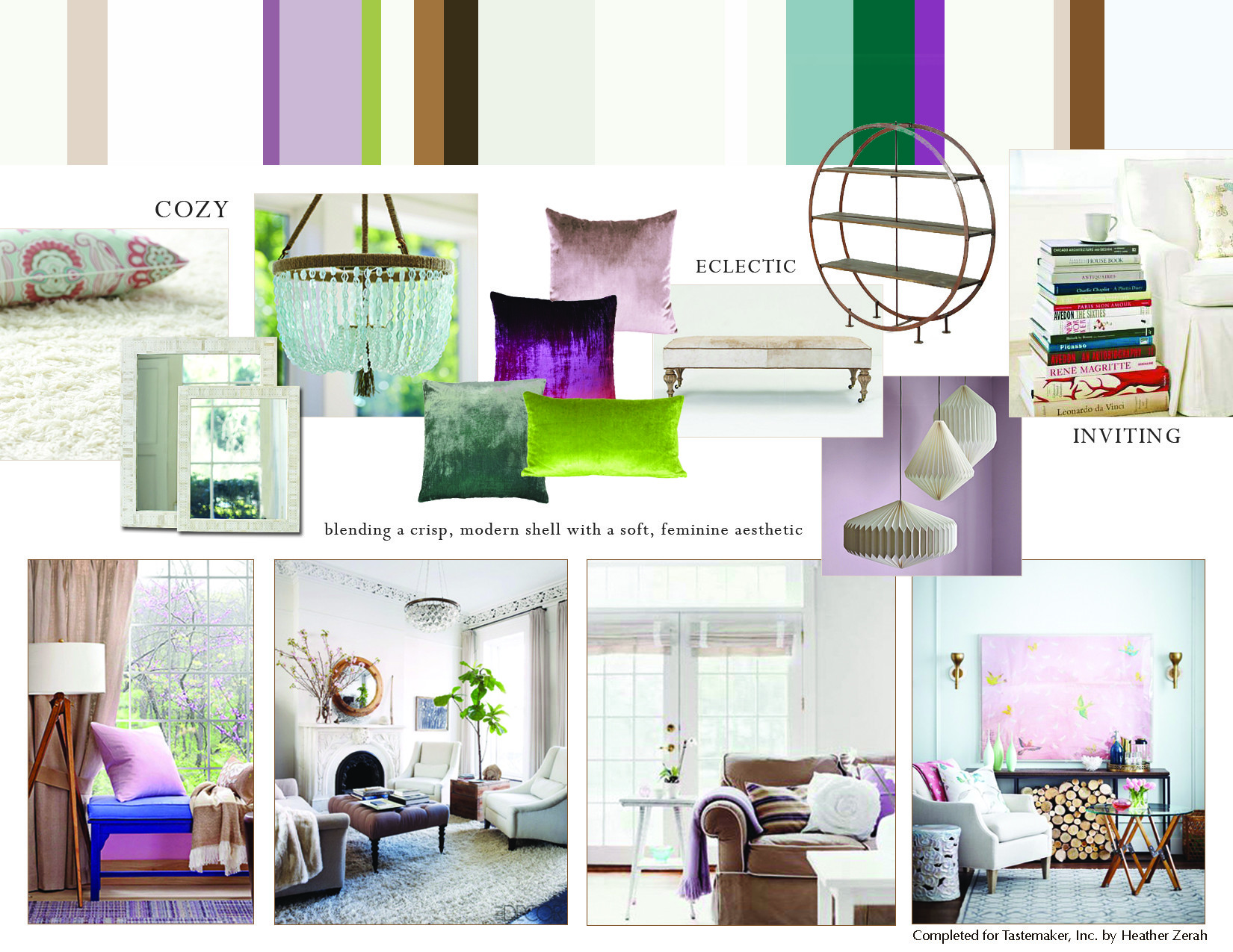 Monday Mood Board Light Feminine Living Room Heather