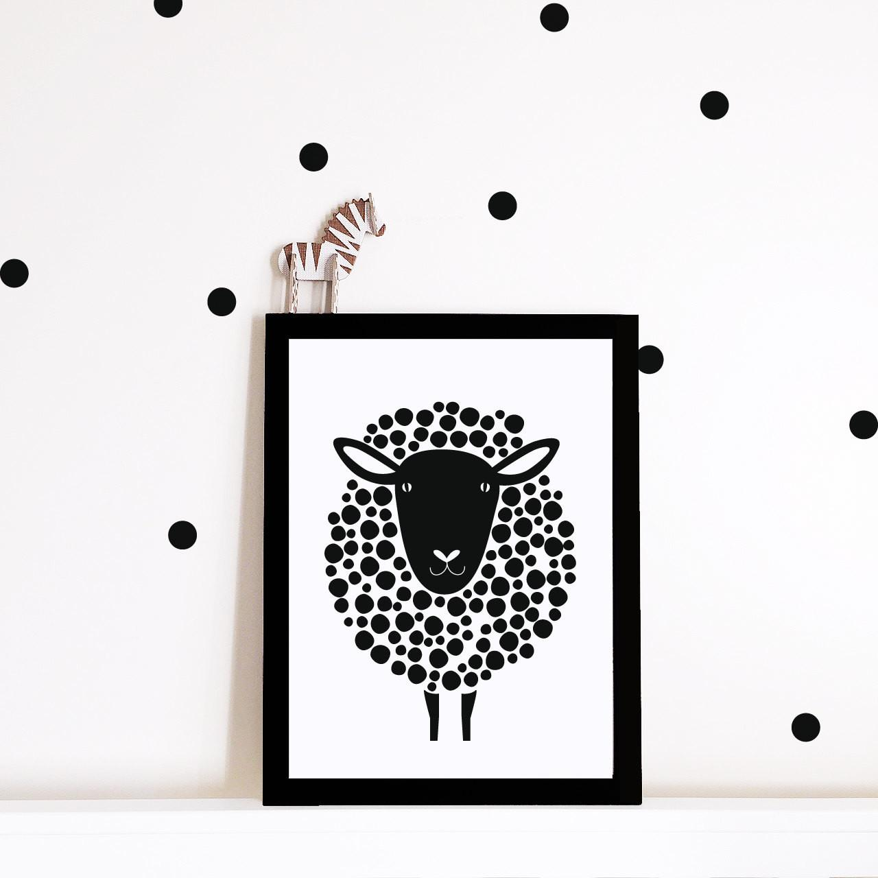 Monochrome Nursery Wall Art Print
