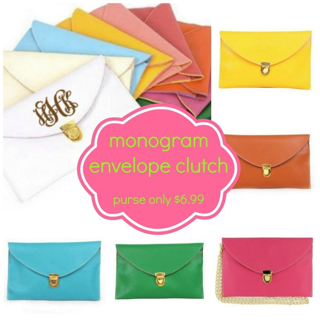 Monogram Envelope Clutch Shipped Purse