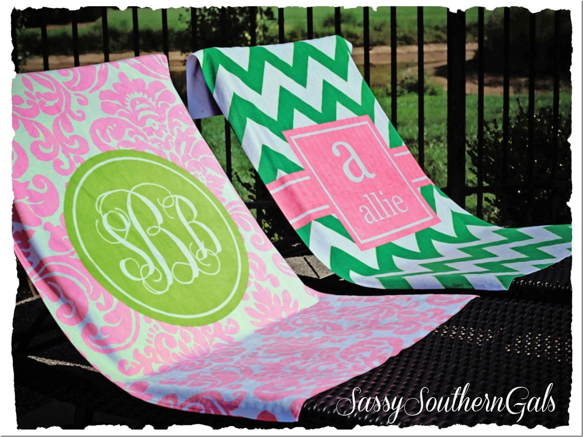 Monogram Towels Bathroom Accessories Ideas House