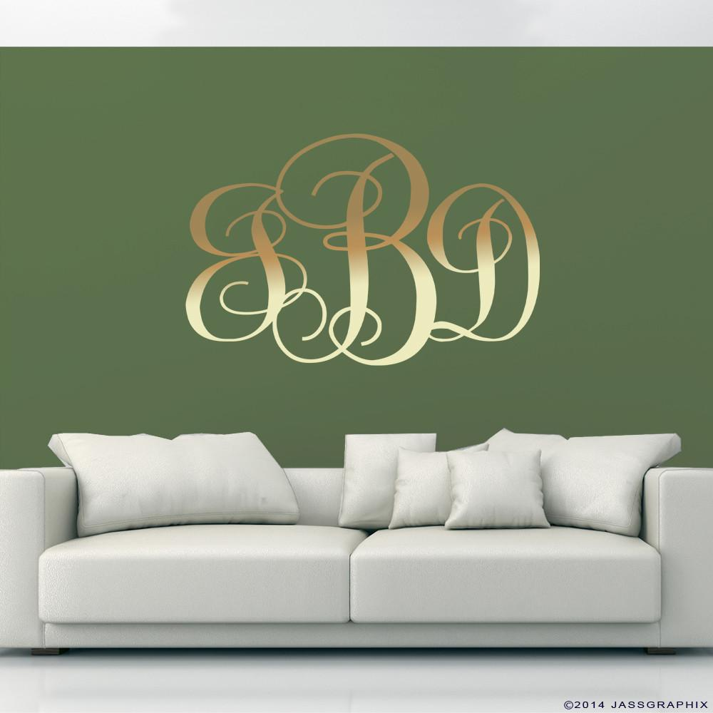 Monogram Wall Decals Personalise Your Rooms Walls
