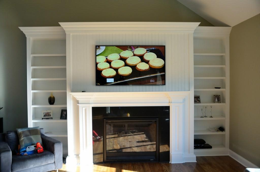 Monroe Led Installation Over Fireplace Home