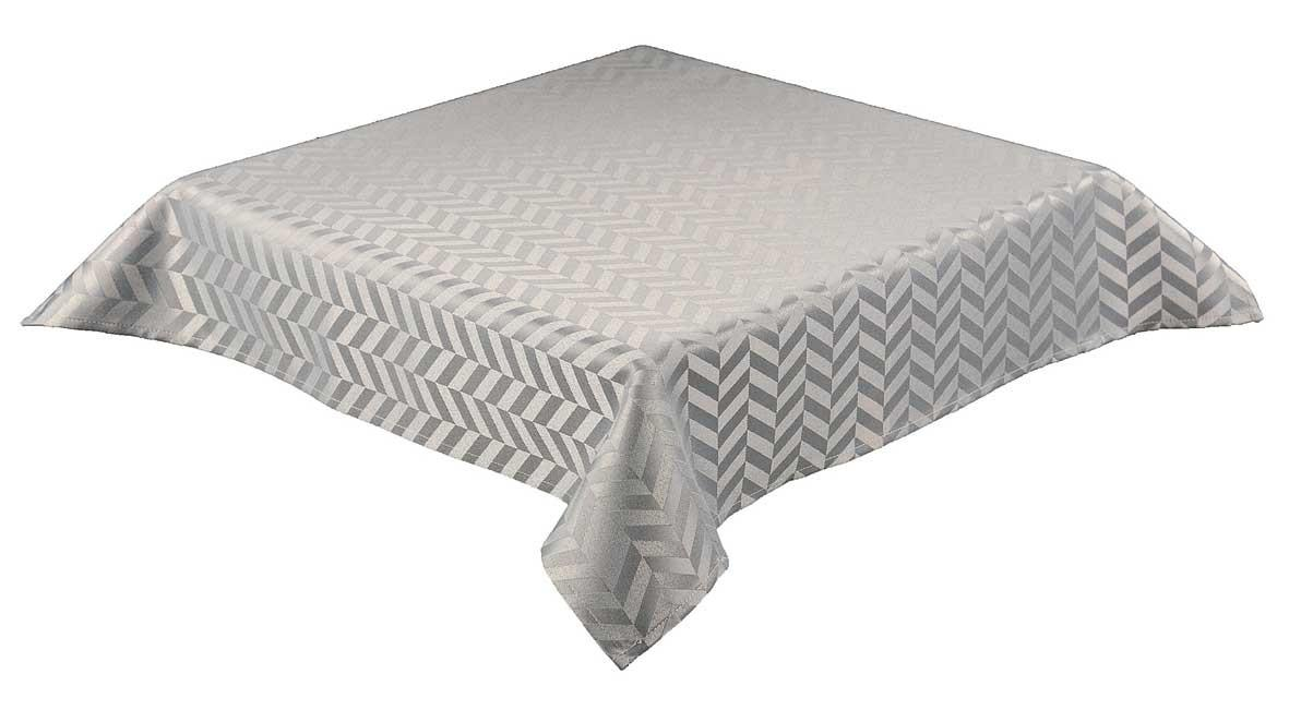 Monte Carlo Tablecloth Chevron Design Silver 89cms