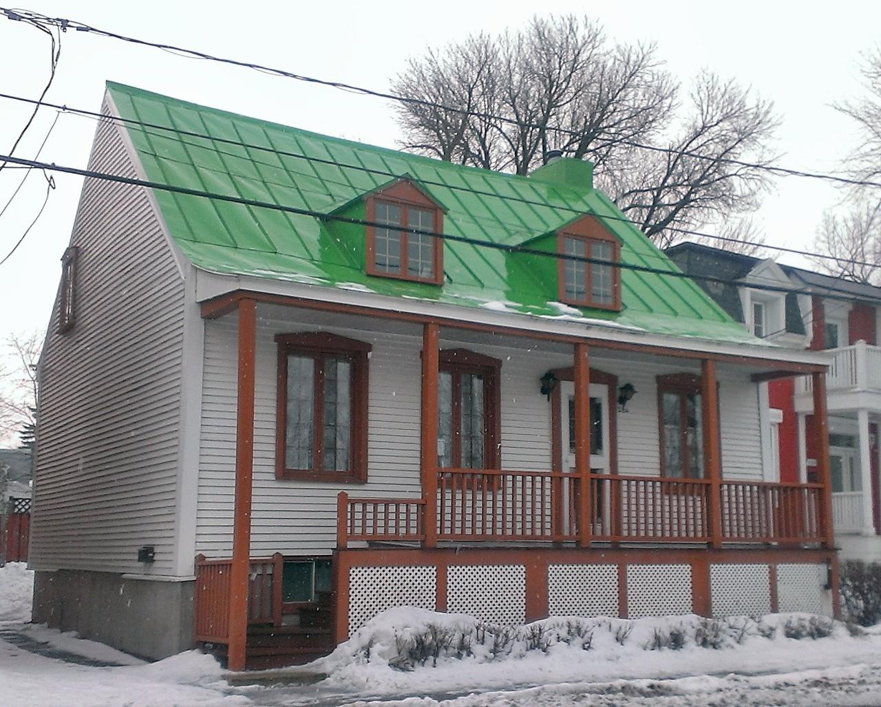 Montreal Architecture Traditional House Green Roof