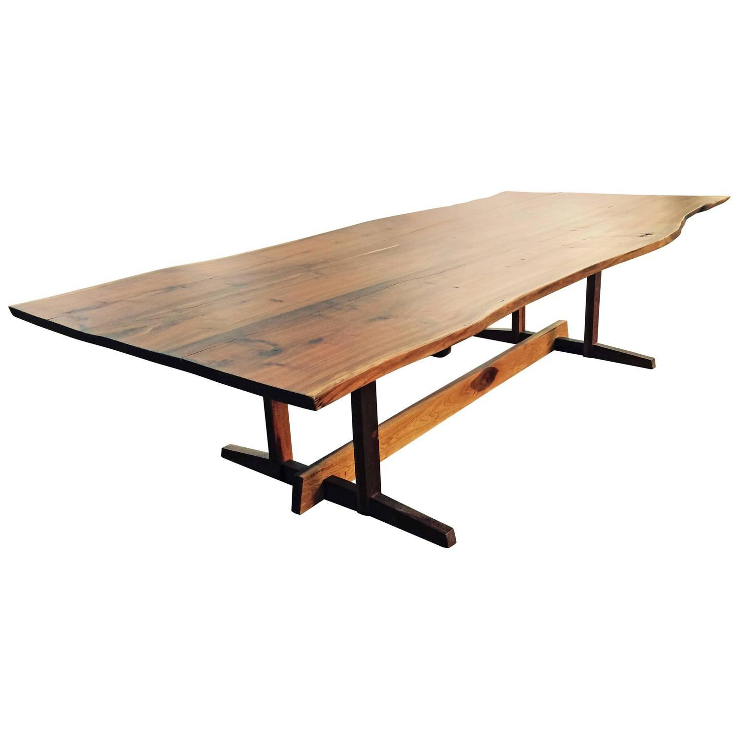 Monumental Custom Nakashima Style Live Edge Dining Table