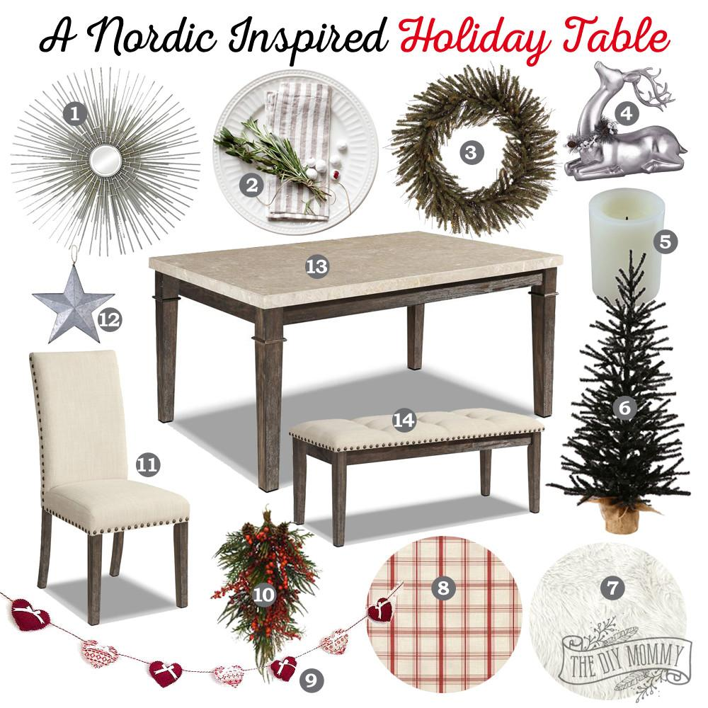Mood Board Nordic Inspired Holiday Table Idea Featuring