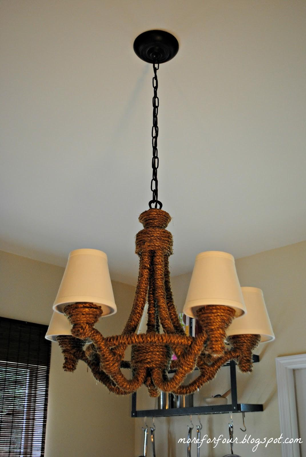 More Four Diy Pottery Barn Rope Chandelier