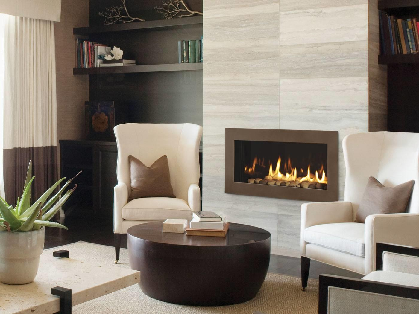 More Modern Gas Fireplace Middle Reception Room