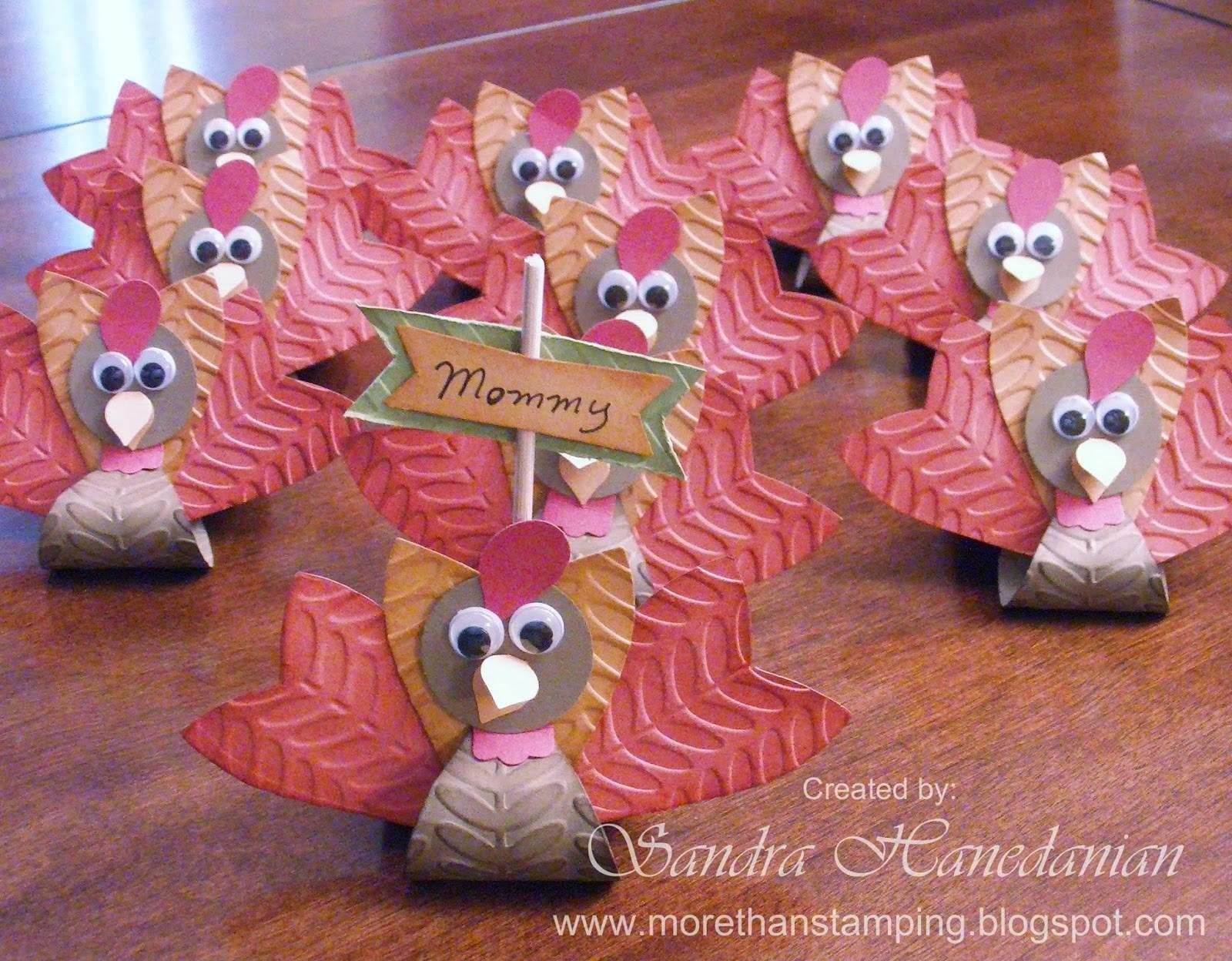 More Turkey Treat Holder Place Card Tutorial
