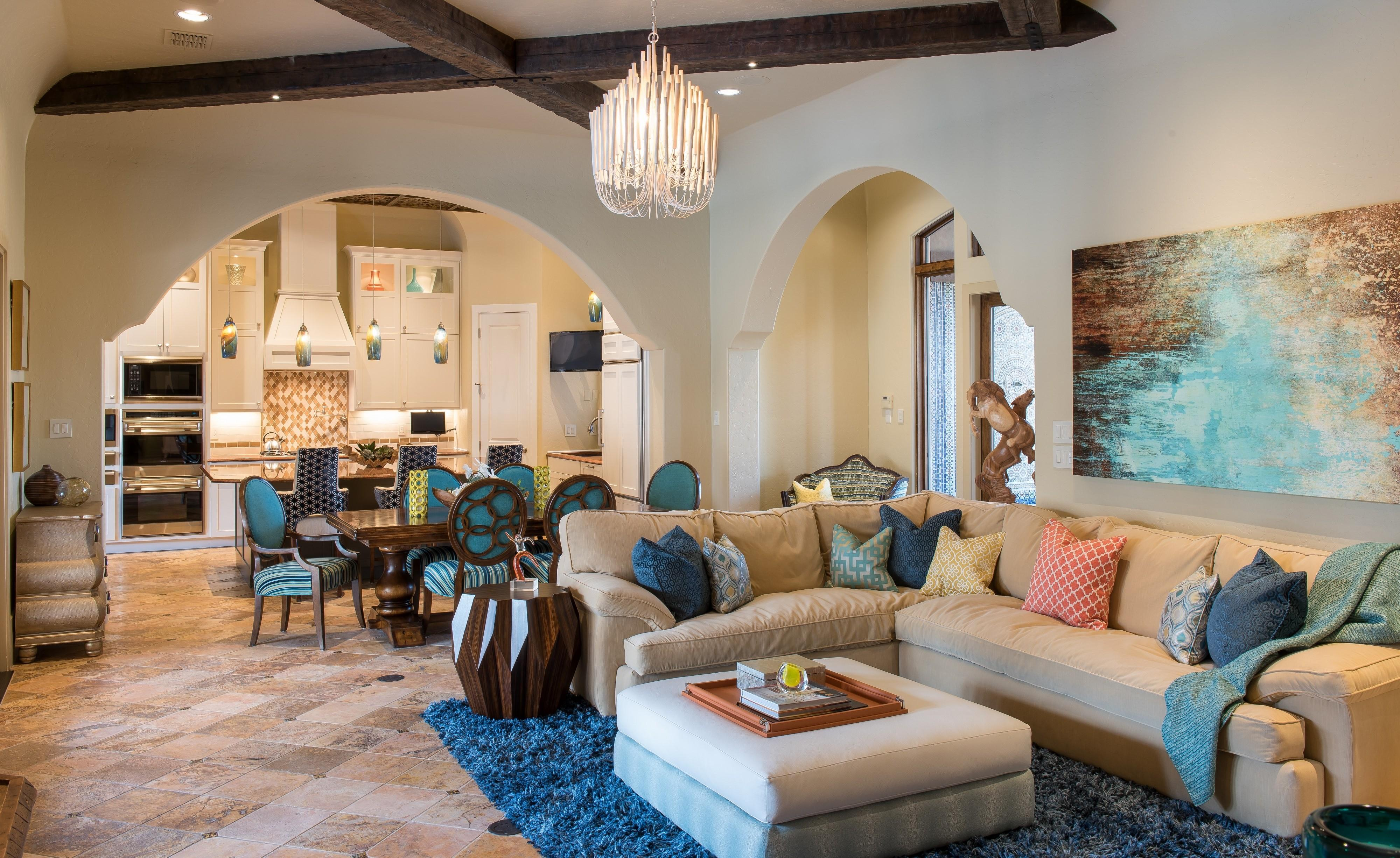 Moroccan Inspired Living Room Home Design