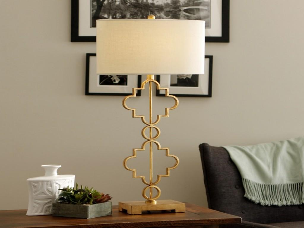 Moroccanlight Antique Gold Leaf Table Lamp Contemporary