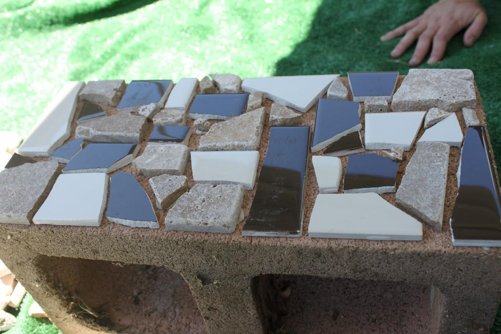 Mosaic Cinder Block Planter Part One Delicate Construction