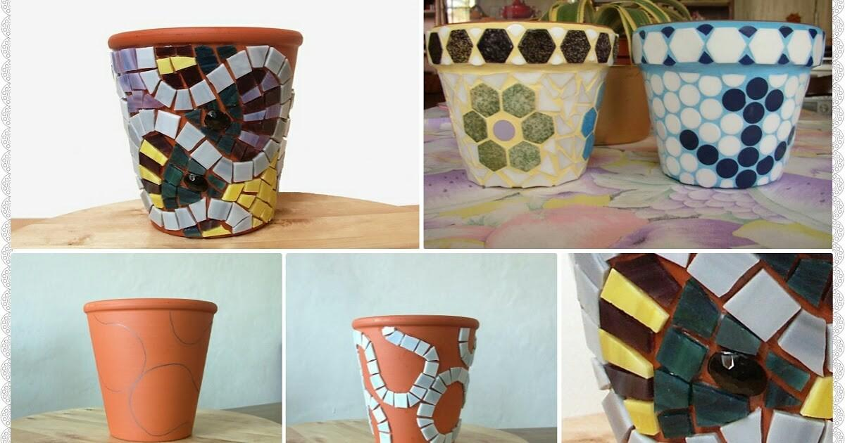 Mosaic Decorate Flower Pots Crazzy Craft