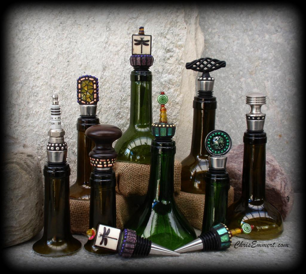 Mosaic Wine Bottle Stoppers Assortment
