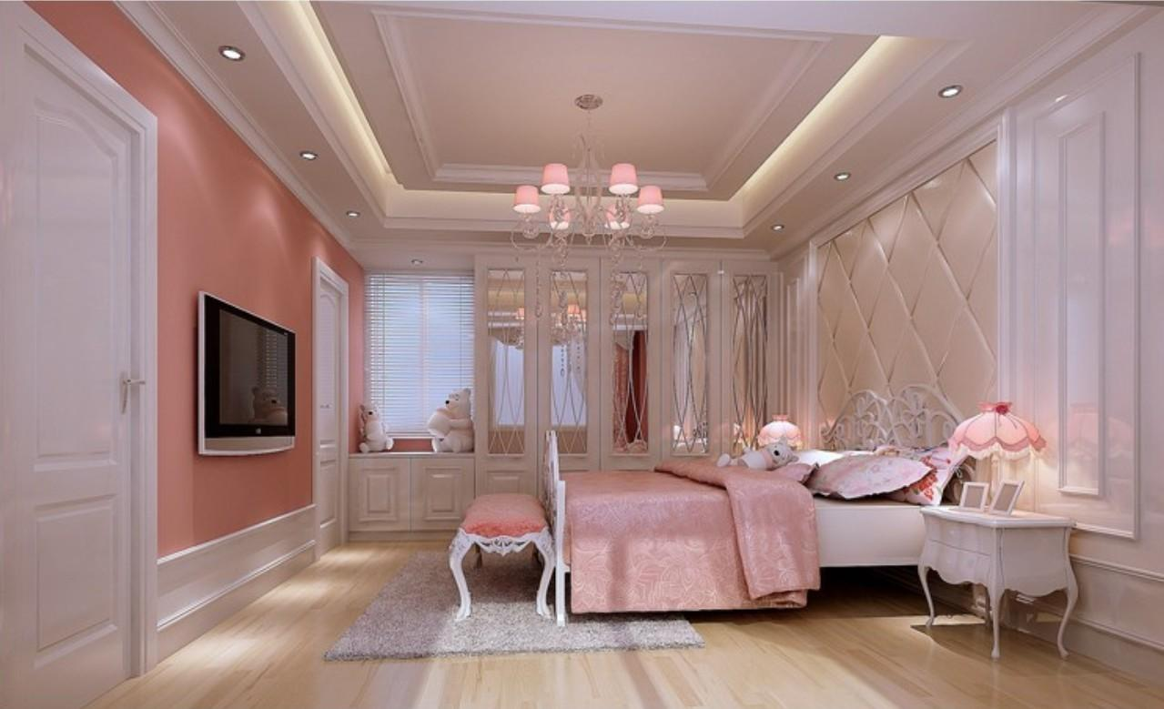Most Beautiful Pink Bedroom Interior Design 2013