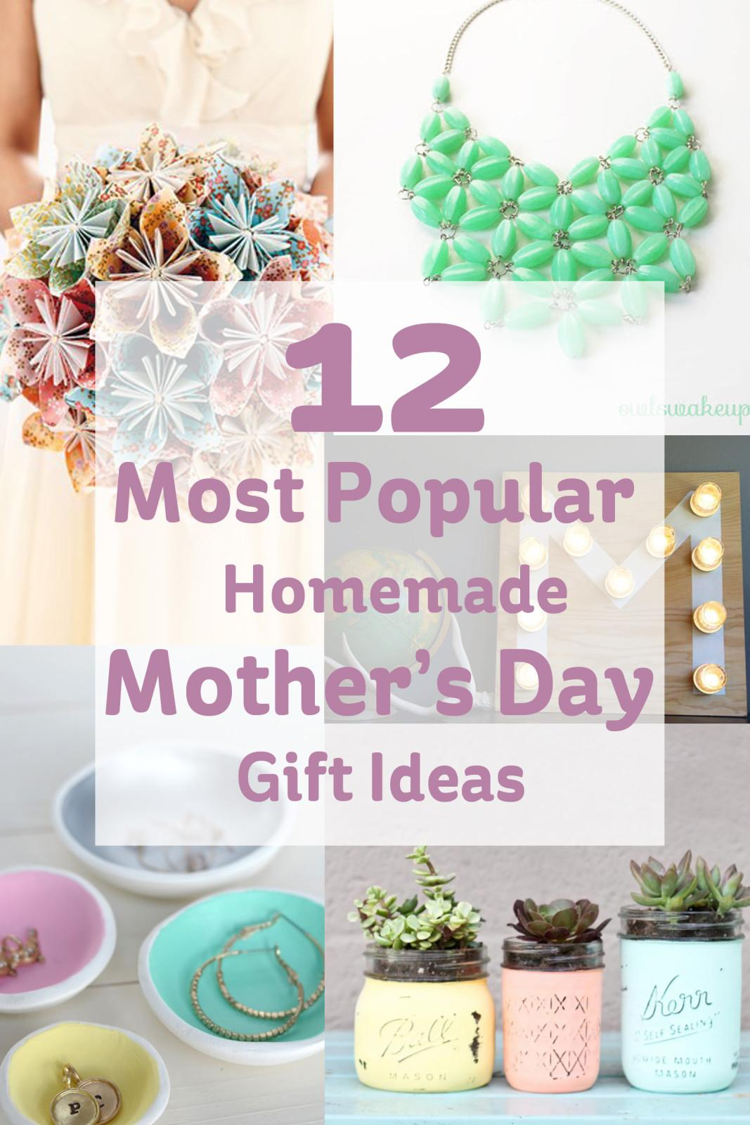 Most Popular Homemade Mother Day Gift Ideas