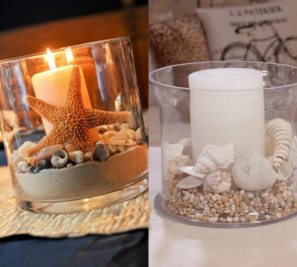Most Romantic Costal Inspired Candle Decor Ideas