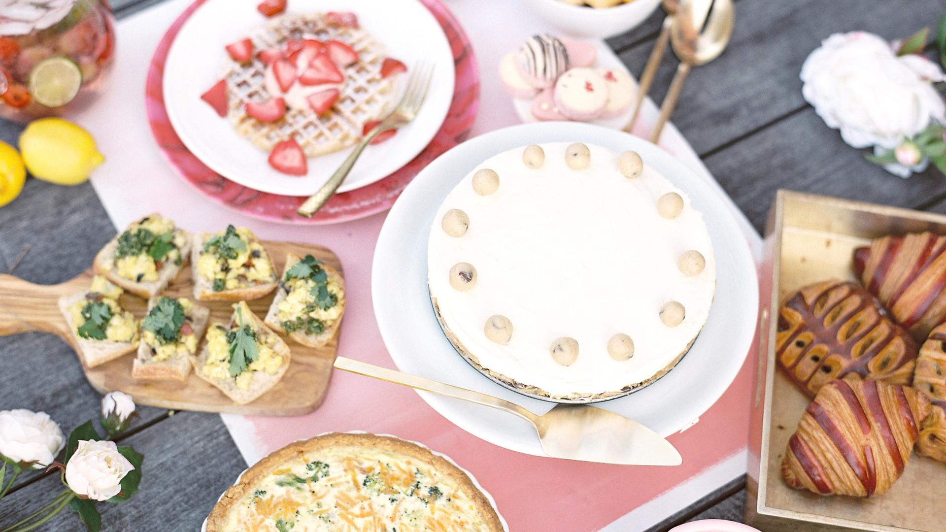 Mother Day Brunch Recipes Waffles Quiche Sangria