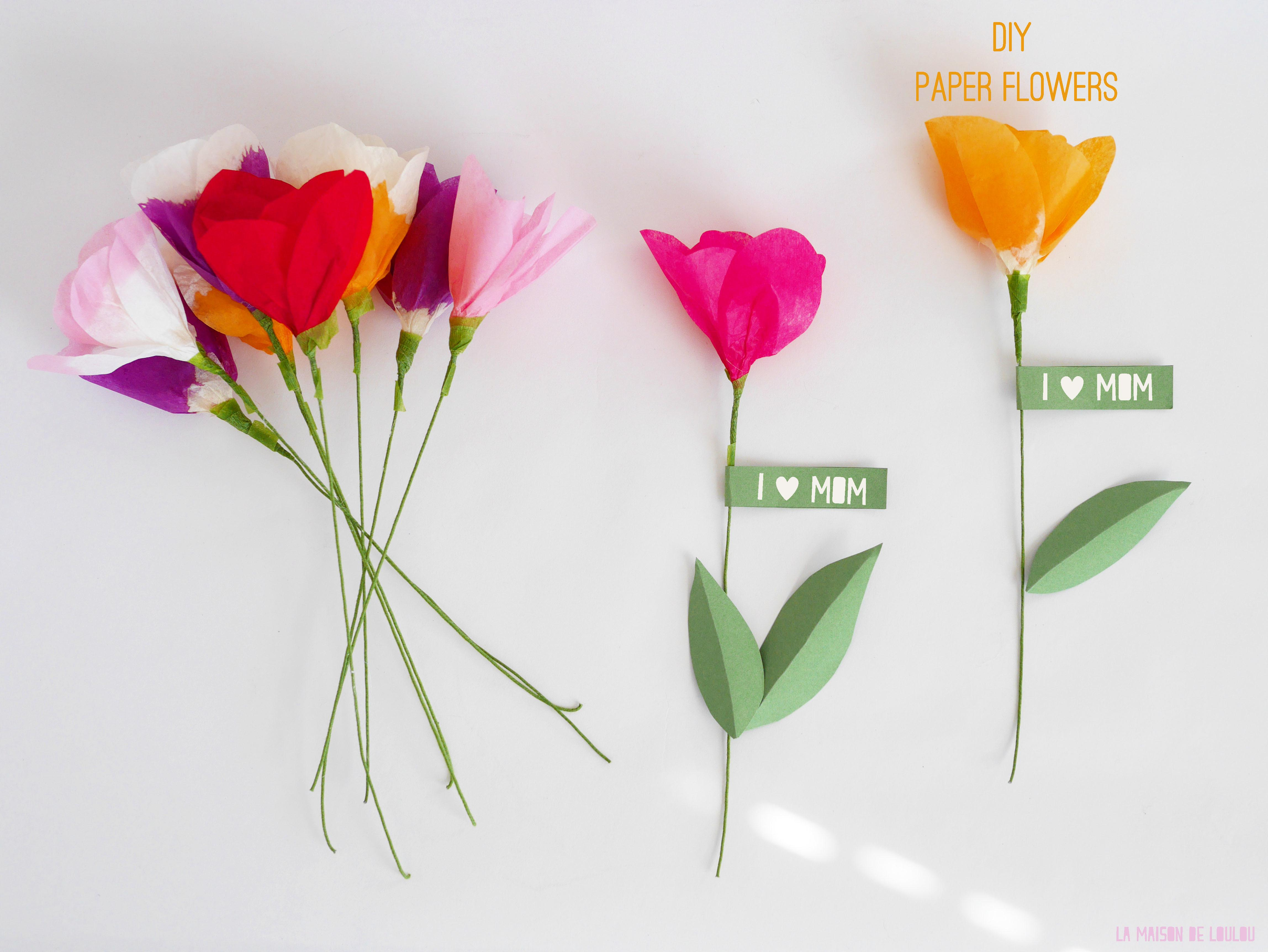 Mother Day Diy Part Tissue Paper Flowers
