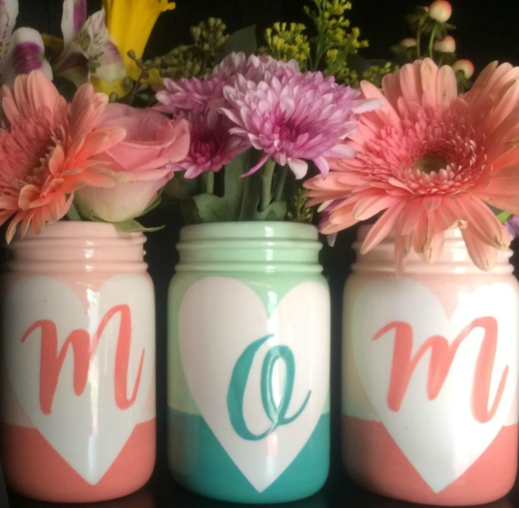 Mother Day Mason Jar Vases Wish Pottery
