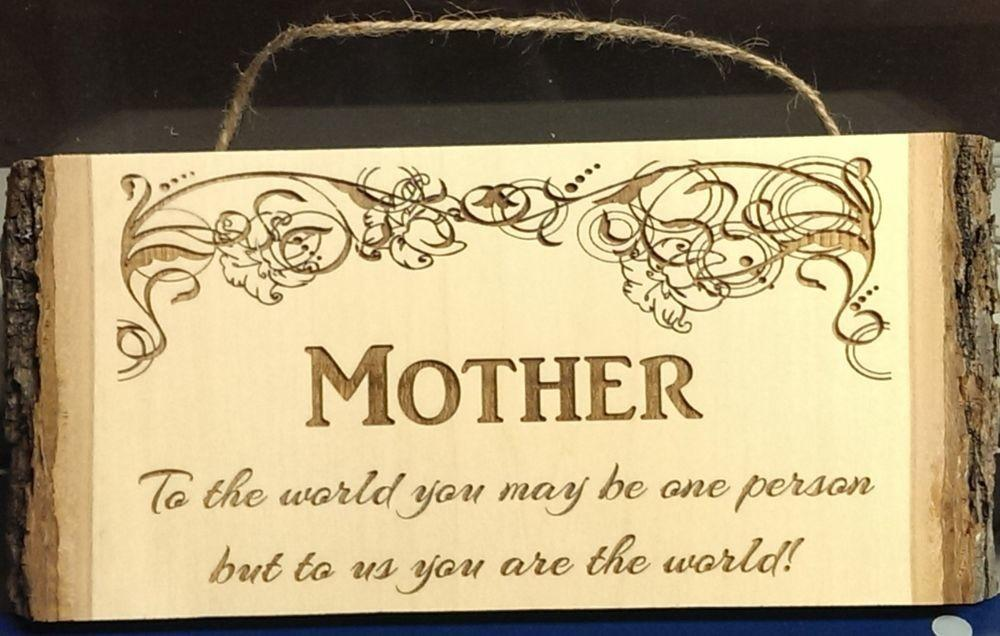 Mother World Wood Plaque Perfect