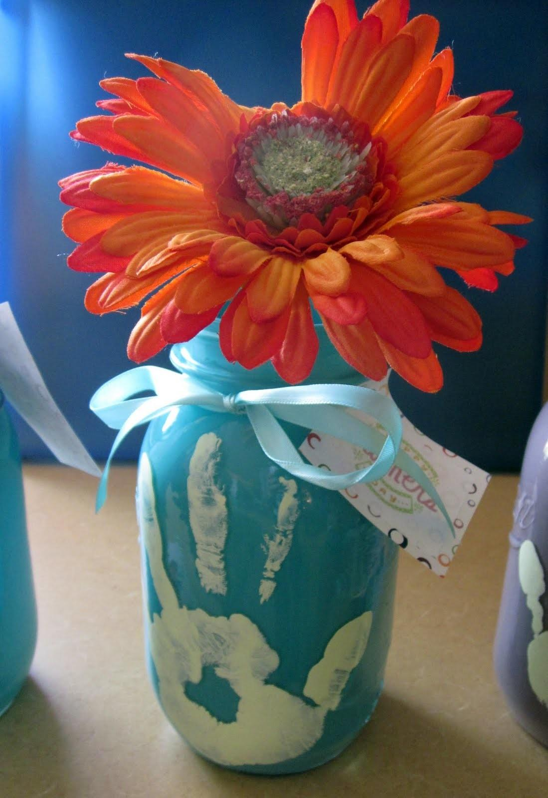 Mothers Day Ideas Kids Mason Jar Vase