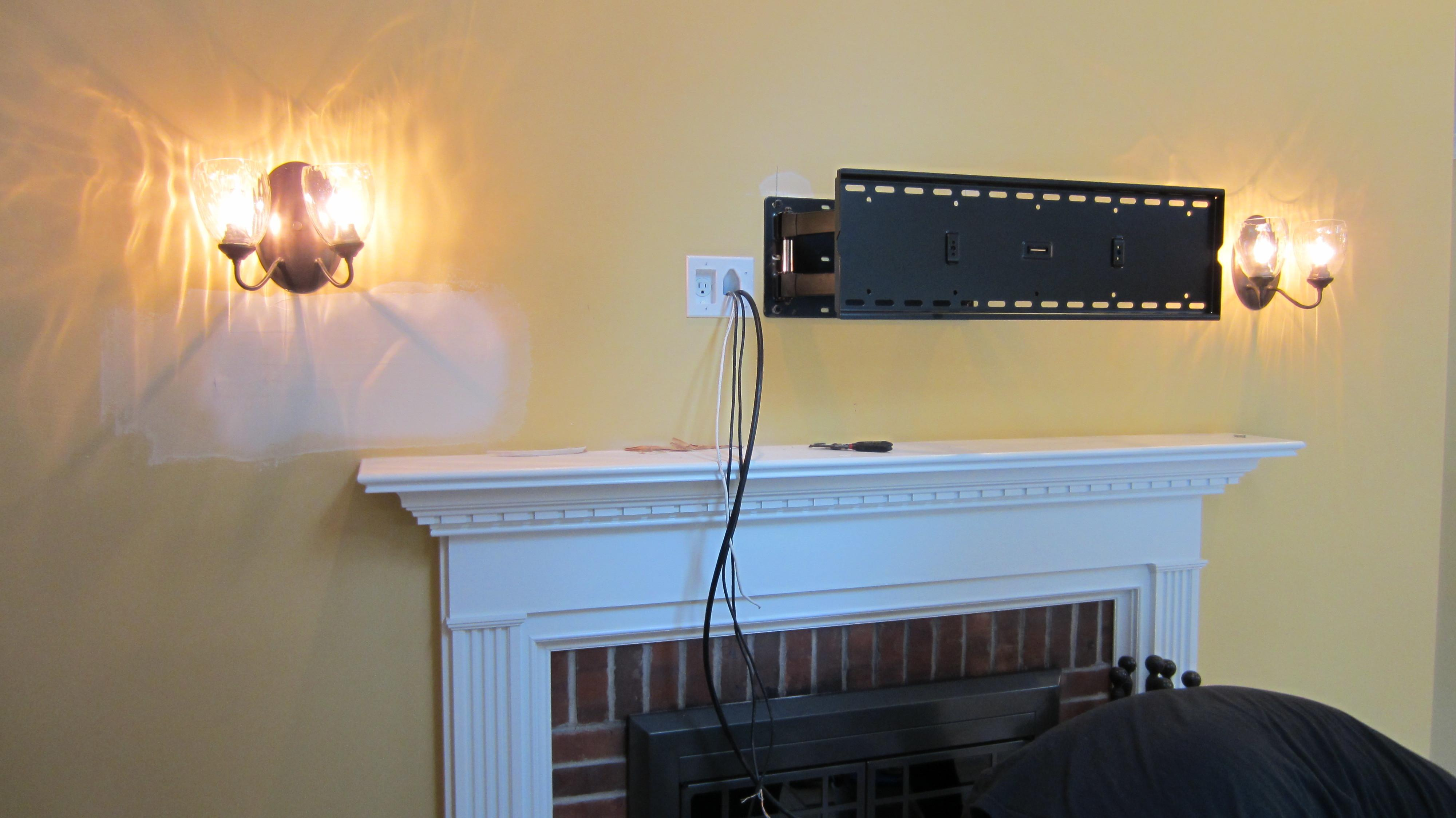 Mount Above Fireplace Wires Design Ideas