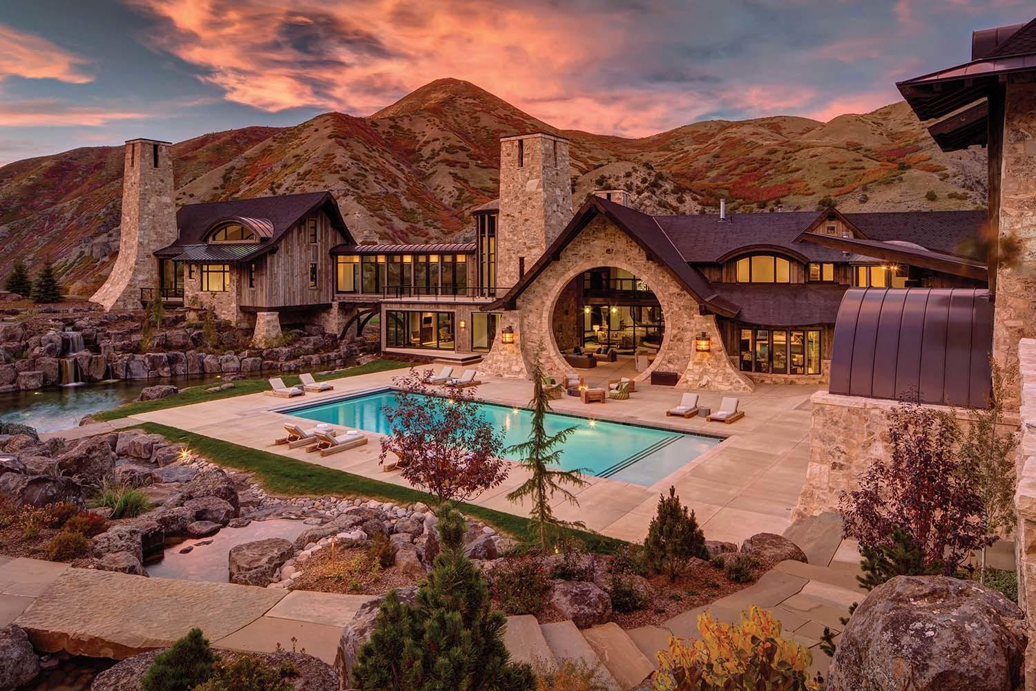 Mountain Contemporary Home Utah River Bend Ranch
