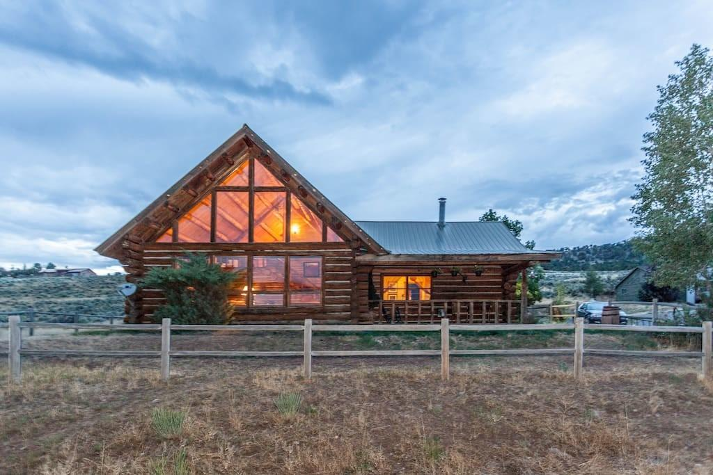Mountain Rustic Log Home Vacation Houses Rent