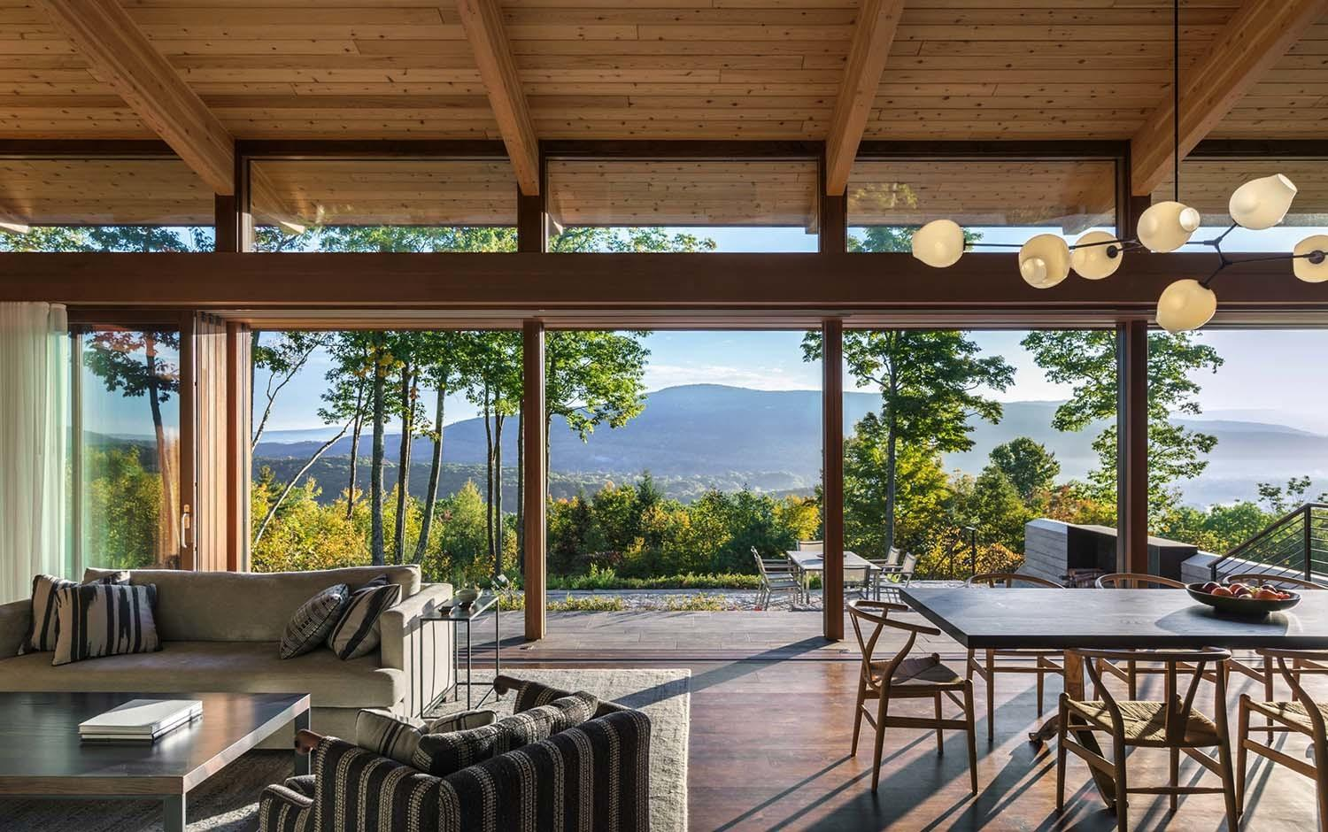 Mountainside Home Offers Sweeping Views Over Berkshires