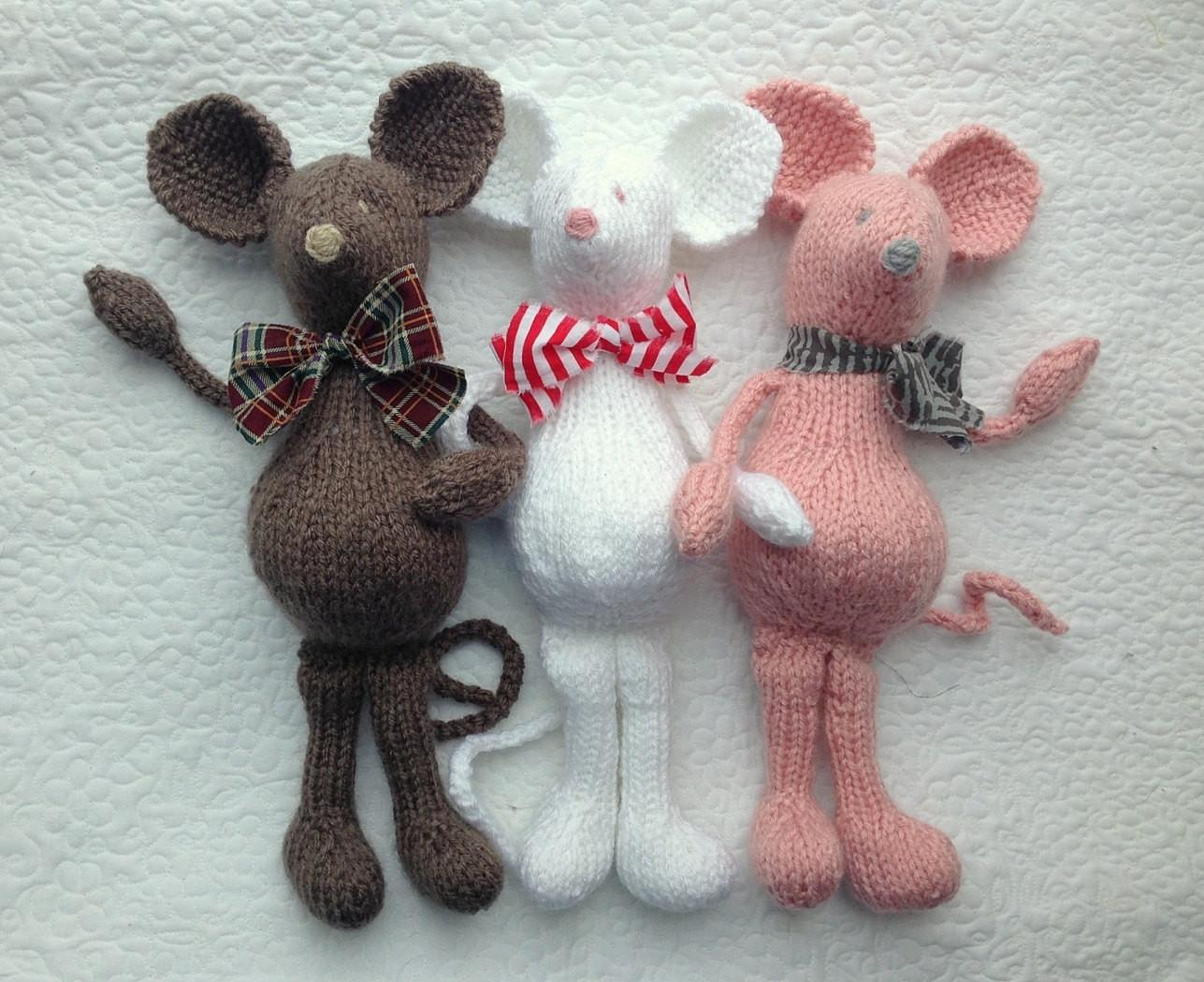 Mouse Knitting Pattern Soft Toy Pdf Only Heirloom