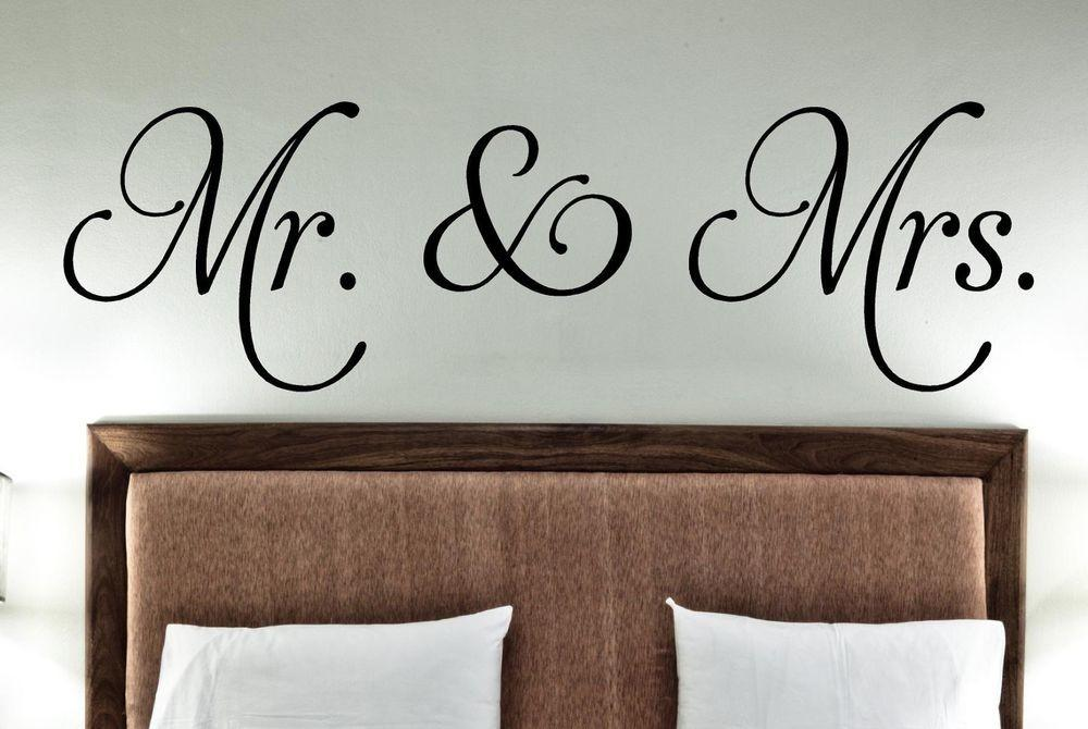 Mrs Vinyl Decals Decor Wall Words Stickers Family
