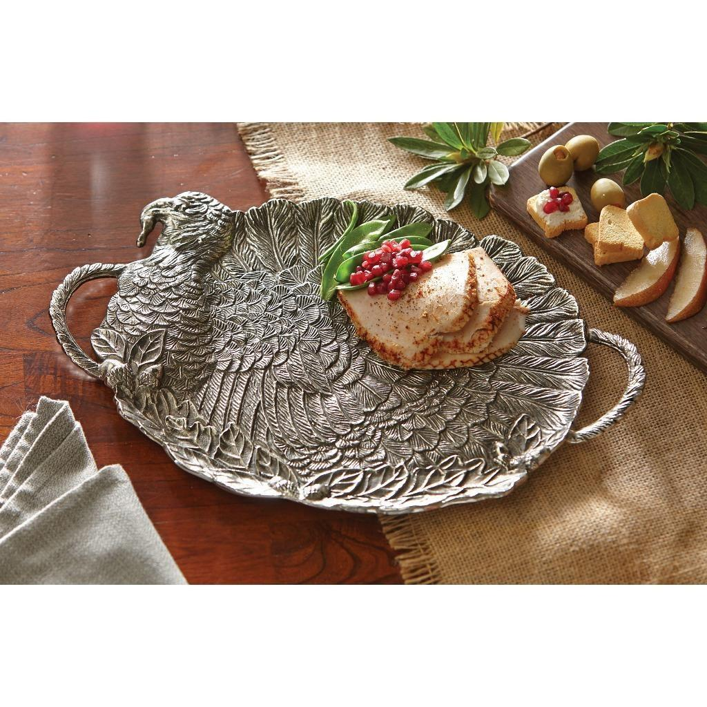 Mud Pie Fall Harvest Collection Dimensional Metal Turkey