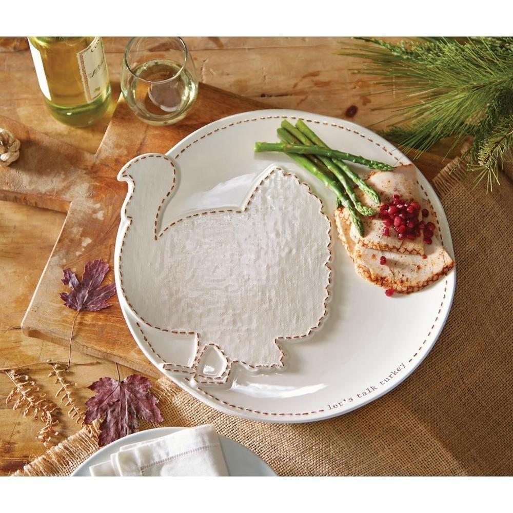 Mud Pie Fall Thanksgiving Collection Raised Turkey Serving