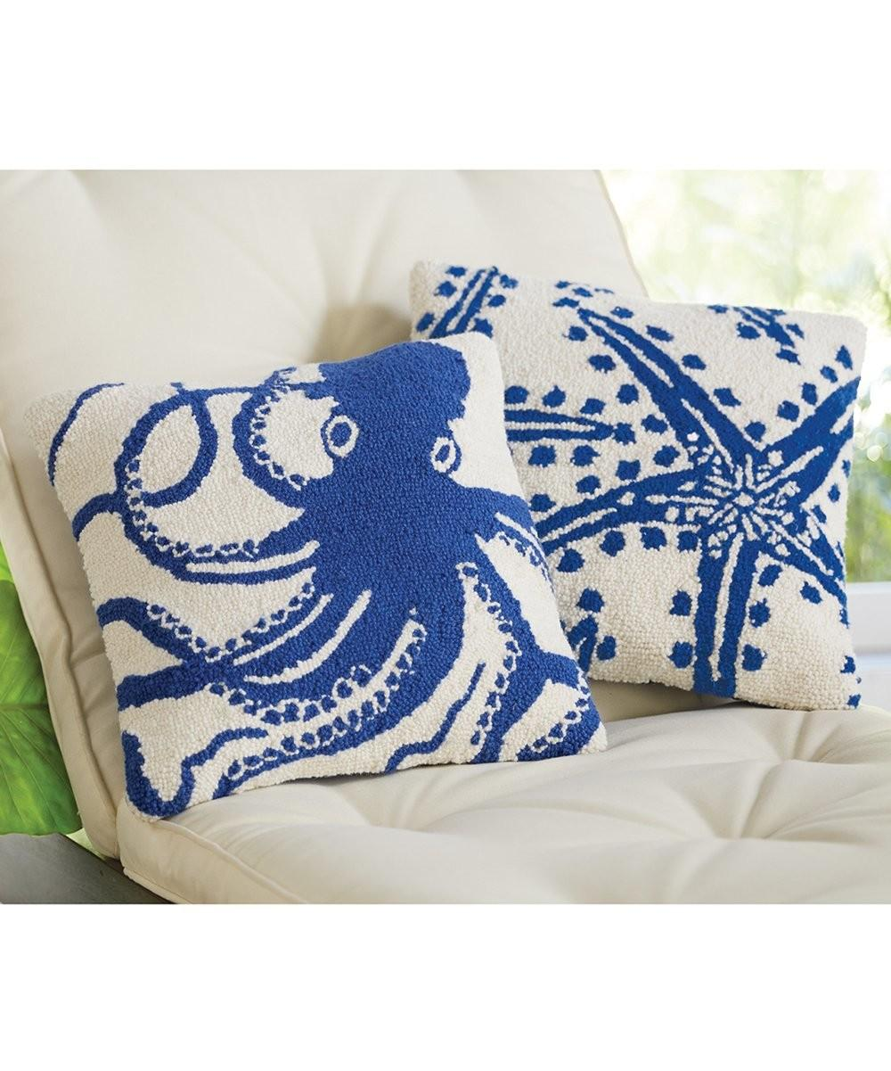 Mud Pie Octopus Throw Pillow Zulily