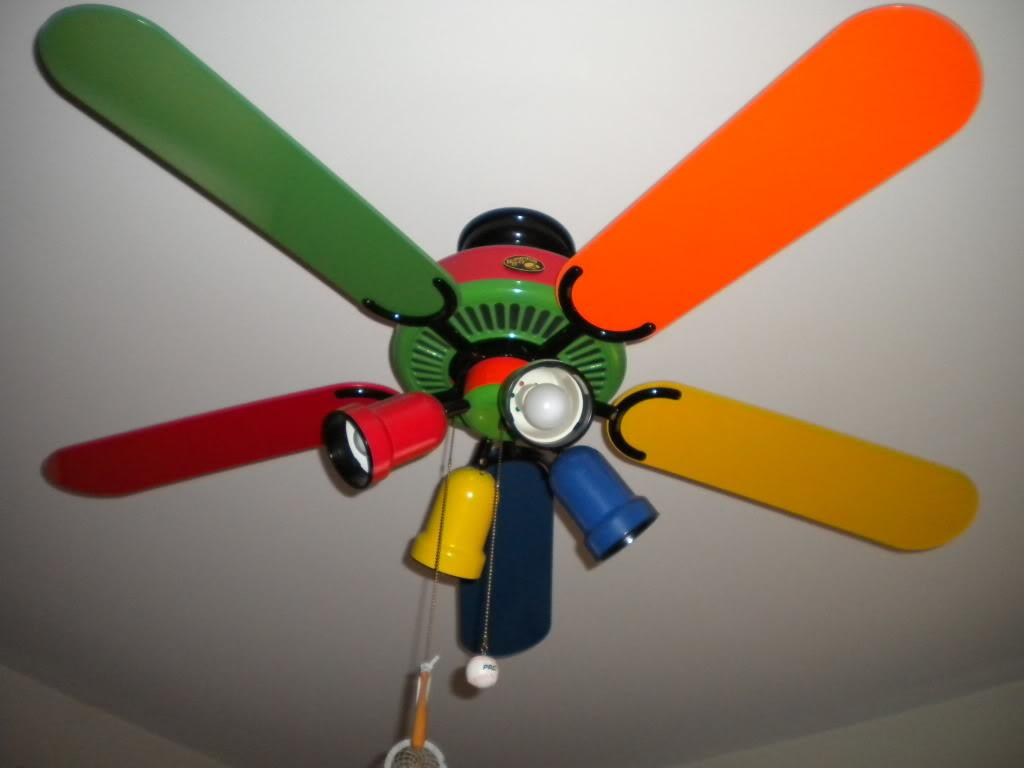 Multi Colored Ceiling Fan Style Your Rooms