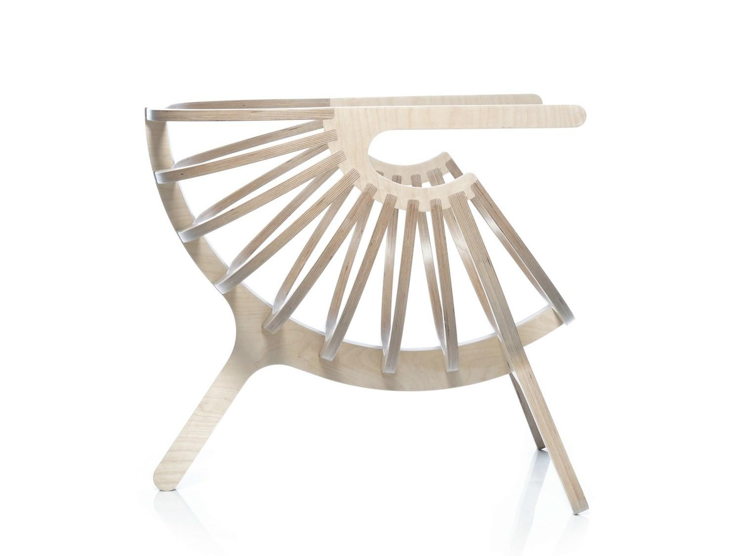 Multi Layer Wood Easy Chair Armrests Shell