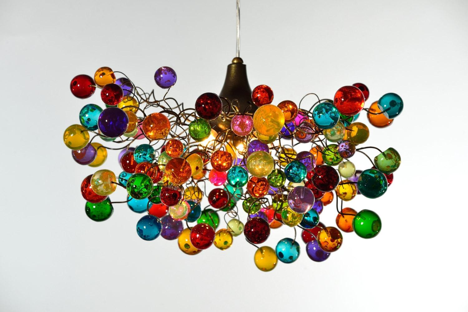 Multicolored Bubbles Lighting Fixtures Hanging Lamp